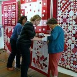 Red & White quilt exhibition